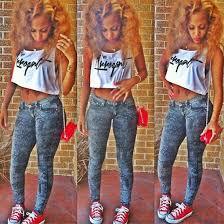 Light Skin Pretty Girls Jeans Pretty Nice Lightskin Fit Converse Shirt