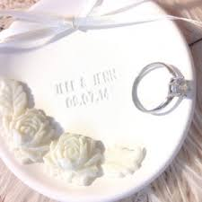 engagement ring dish white peony wedding ring bearer bowl customize wedding ring dish