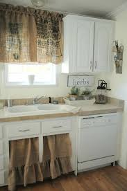 rustic burlap curtains eclectic kitchen by buckets of burlap i