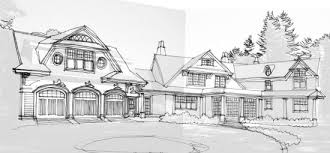Gambrel Style House Driveway Elevation Jpg