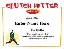 baseball certificates free award templates