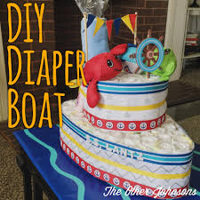 a tutorial to make your own diaper boat baby shower pinterest