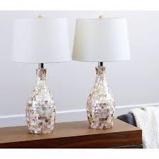 living room lamp set abbyson living mercury glass black shade