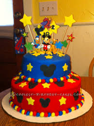 Home Made Cake Decorations by Homemade Mickey Mouse Birthday Cake This Website Is The