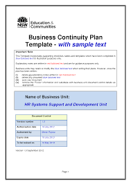 10 best images of it security business continuity plan example