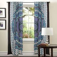 Hanging Panel Curtains Mandala Hippie Tapestry Curtains U0026 Window Door Drapes Valances