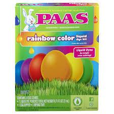 easter egg coloring kits paas easter egg dye kit rainbow meijer
