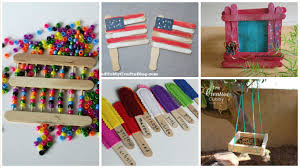 12 diy crafts with recycled ice cream sticks for keeping kids busy
