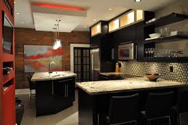Kitchen Soffit Lighting Soffit Lighting Kitchen Contemporary With Accent Wall Bar Stools