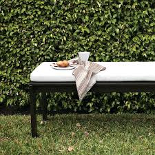 Long Bench Cushions Outdoor Wood Slat Long Bench West Elm