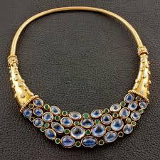 sapphire emerald necklace images Cabochon sapphire emerald diamond estate necklace craiger jpg