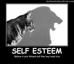 believe in self esteem motivational poster