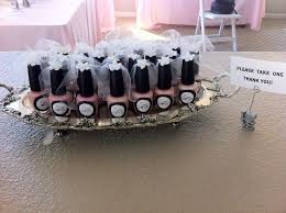 ideas for bridal shower favors bridal shower giveaway ideas nail favors on nail