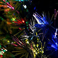 time 32 inch green fiber optic tree