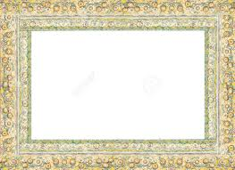 thai frame china porcelain decorated in thai blank frame stock