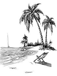 beach line art printed photo background 7407 beach drawings