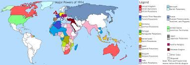 Austria World Map by Colonial Powers Of 1914 Map U2013 Slukeplassrpcblog