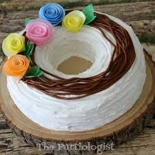 the partiologist wafer paper flower wreath cake with video