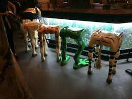 themed bar stools the animal leg bar stools picture of rainforest cafe