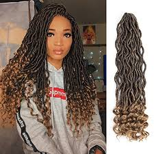 crochet hair lihui 6pcs lot goddess faux locs curly faux locs crochet hair wavy