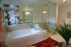 modern master bathroom with frameless showerdoor u0026 master bathroom