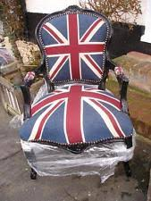 Union Jack Dining Chair Shabby Chic Chairs Ebay