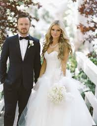 wedding picture aaron paul s wedding details revealed photos huffpost