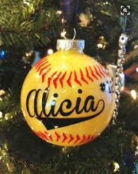 Softball Christmas Ornament - cute idea for lanie softball ornament gift ideas pinterest