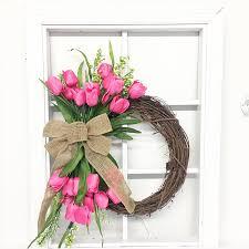 Tulip Wreath Diy Tulip Wreath U2014 Jeffrey Alans