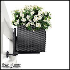Black Planter Boxes by Pair Of Black Brackets For Cottage Weave Deck Rail Planter Box