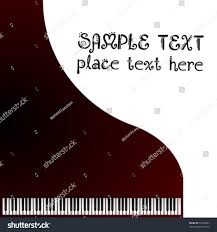 music greeting card grand piano stock vector 52726303 shutterstock
