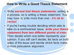 write a good thesis statement writing thesis statements what to do before writing a thesis