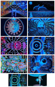 glow in the dark poster glow in the dark posters psychedelic art fabric poster x glowing