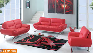 cheap used living room furniture contemporary red leather 7580 sofa with options metal legs
