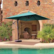 Sunbrella 11 Ft Cantilever Umbrella by Galtech Sunbrella Easy Tilt 11 Ft Offset Umbrella With Wheeled
