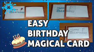 easy birthday magic card youtube