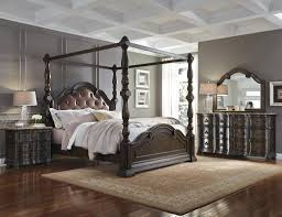 Canopy Bedroom Furniture Sets by Bedroom Full Size Brown Contemporary Varnished Solid Wood Panel