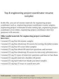 Resume Templates Engineering Project Coordinator Resume Click Here To Download This Data