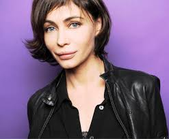 emmanuelle béart love the haircut too bad about the botox lips