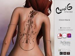 cello u2013 back tattoo carol g u2013 carolgtattoo