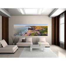 ideal decor 69 in x 0 25 in crystal flowers wall mural dm673 nordic coast wall mural