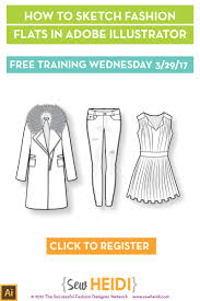 free fashion flat sketching live training wednesday