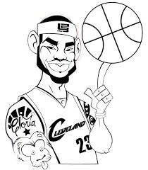 illustrate lebron james cartoon character