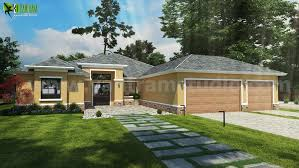 Small House Design Ideas Front Exterior Rendering by Yantram 3d