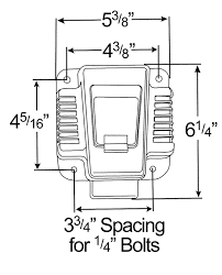 87590 ultra pin receptacle four hole mount nose box solid pin