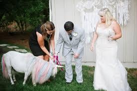 virginia couple invites unicorn to wedding