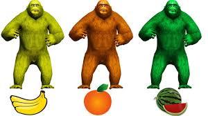 learn colors toilet king kong cartoons kids 3d learn