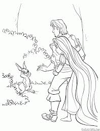 coloring page forest bunny