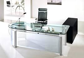 glass top office desk glass desk with drawers fascinating glass top office desk modern
