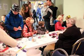 video cowichan lake families celebrate new year at arena
